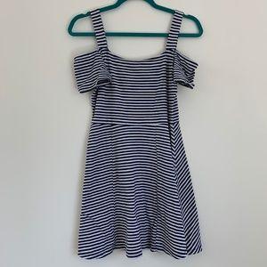 Striped Off Shoulder Summer Dress